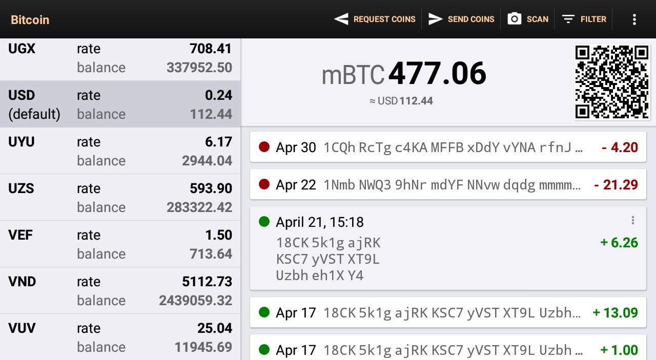 Bitcoin Wallet screenshot 3