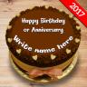 Write Name On Birthday Cake Icon