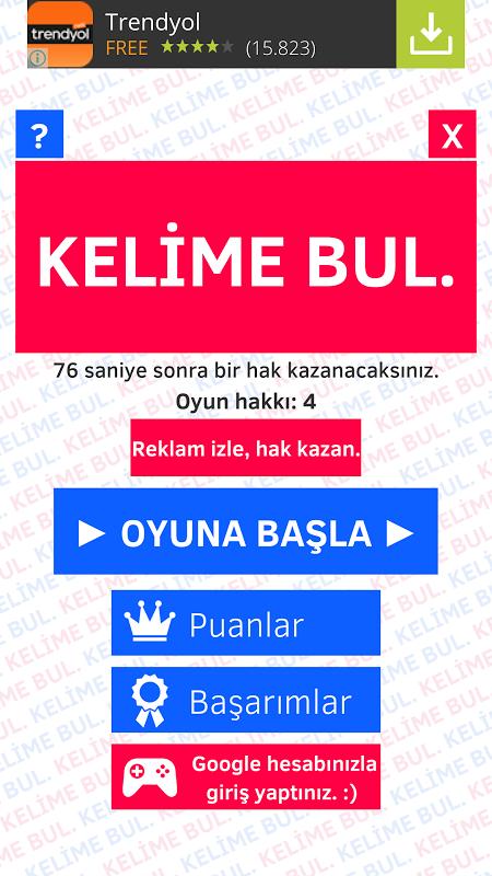 KELİME BUL. screenshot 2