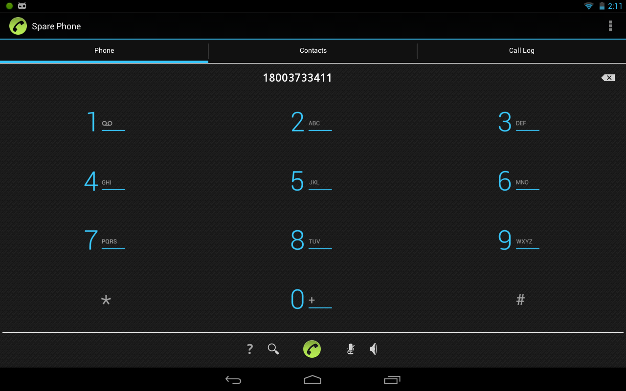 Spare Phone - VoIP Voice Calls screenshot 2