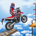 Fahrrad unmöglich Spuren Rennen : Motorrad Stunts
