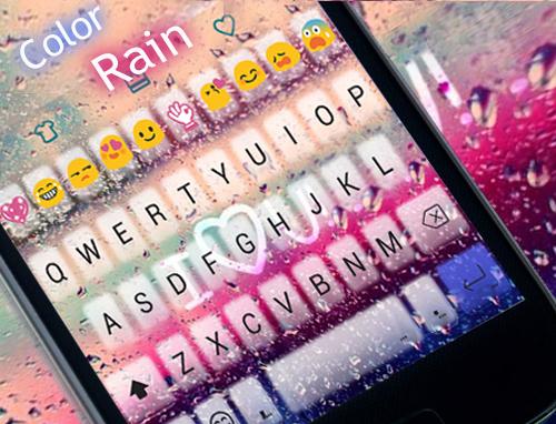 COLOR RAIN Emoji Keyboard Skin screenshot 1