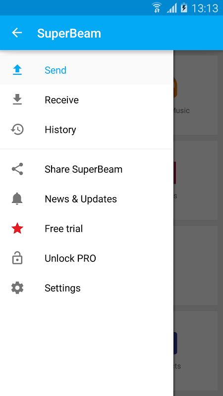SuperBeam | WiFi Direct Share screenshot 1