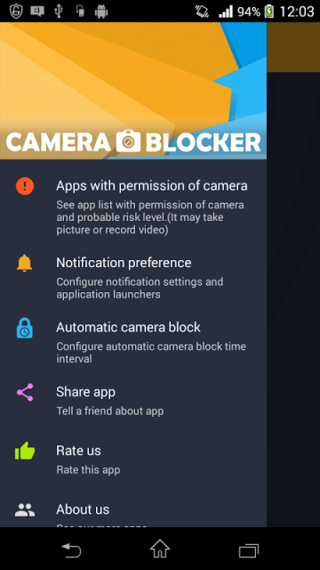 Camera blocker app - video jammer blocker app