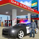 Police Car Wash Service: Gas Station Parking Games