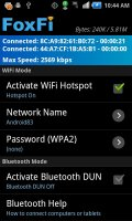 FoxFi (WiFi Tether w/o Root) Screen