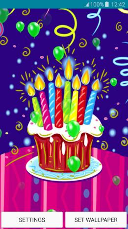 Live Wallpapers Happy Birthday Screenshot 1 2