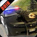 Carro de polícia perseguição rodovia perseguição