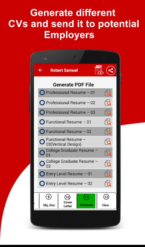 Resume Builder Free 5 Minute CV Maker Templates 57 Download APK