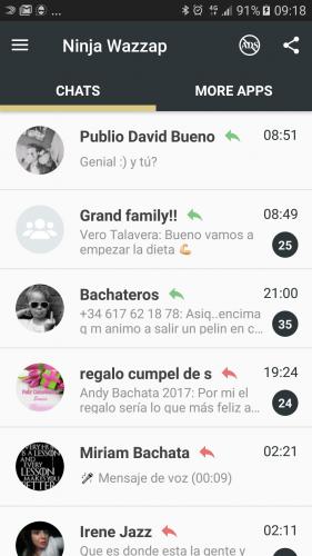 Ninja en Whatsapp screenshot 7