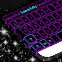 Neon Purple Keyboard Theme