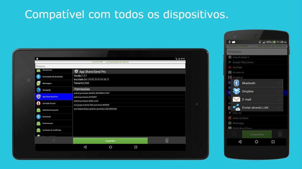 Compartilhar aplicativos screenshot 1