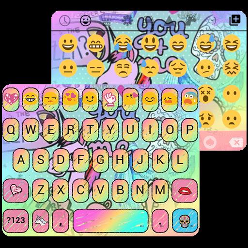 Pop Art Emoji Keyboard Theme