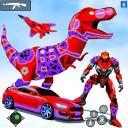 Dino Robot Car Game: Flying Car Robot Game