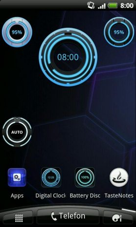 Digital Clock Disc Widget 1 6 0 Download APK for Android