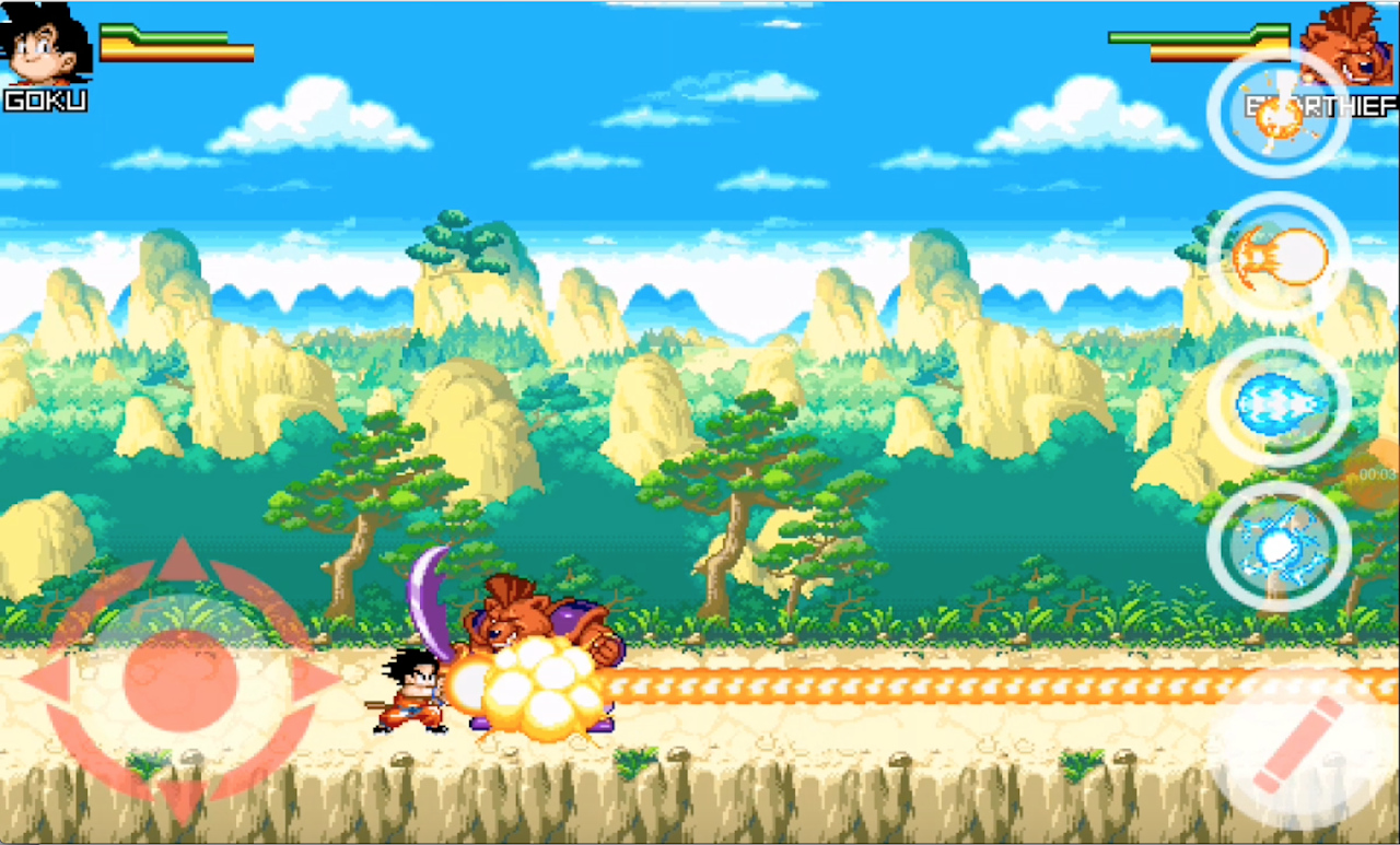 Dragon Goku Kid - Super Saiyan Fighting screenshot 2