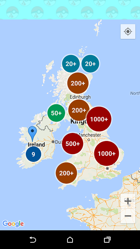 UK & Ireland Pokemon Go Map screenshot 2
