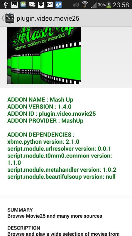 XBMC/KODI ADDONS EXPLORER screenshot 2