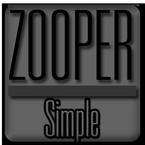 Simple - Zooper Widget Pro