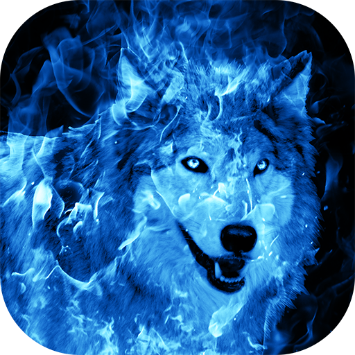 ice wolf background