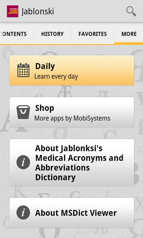 Medical Acronyms Abbreviations screenshot 1