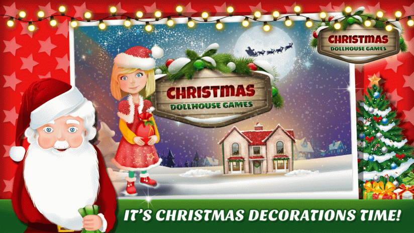 christmas dollhouse games 3d screenshot 1 - Dollhouse Christmas Decorations
