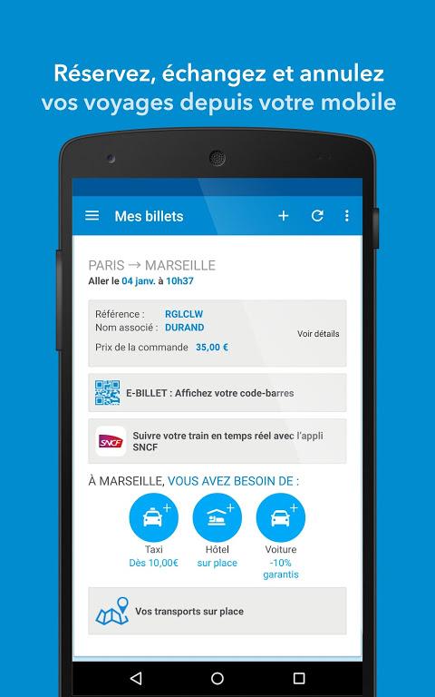 OUI.sncf - billets de train & info sur vos voyages screenshot 2