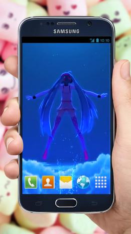 Anime Video Wallpaper Of Hatsune Miku Happy Flight 6