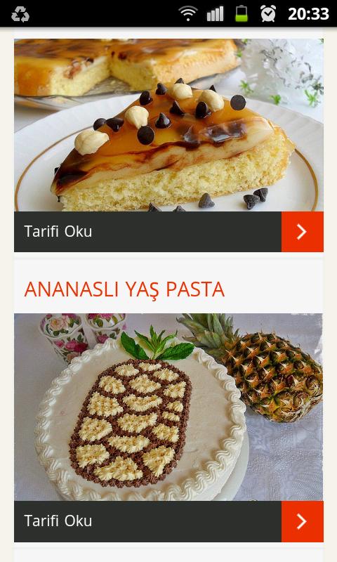 Pasta tarifleri screenshot 1