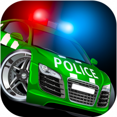 cop car games for free kids icon