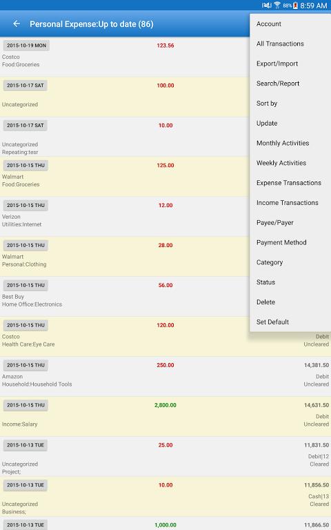 Expense Manager Pro screenshot 2