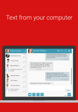 sms from pc tablet mms text messaging sync screenshot 2