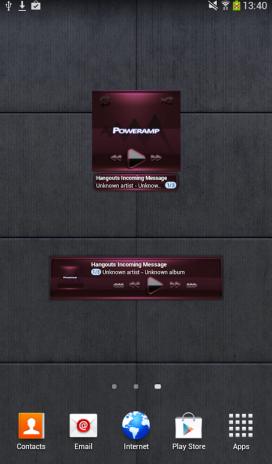 Poweramp widget BLACK Bordeaux 2 05-build-205 Download APK