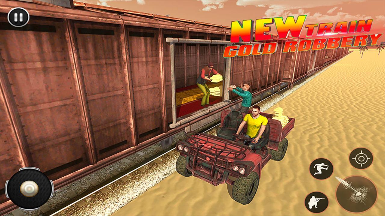 Train Robbery shooting game: Gold Robbery Crime screenshot 2
