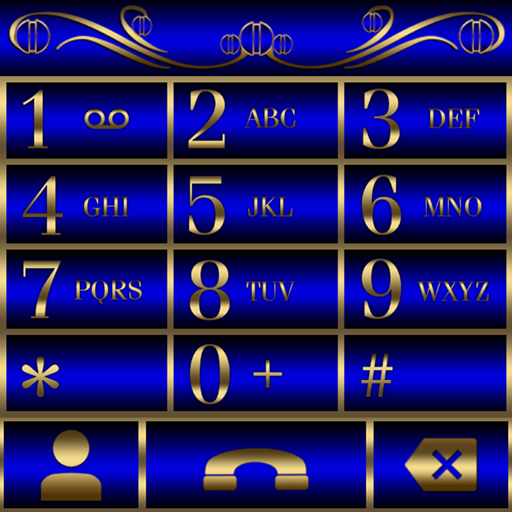 Abctract Blue EXDialer theme