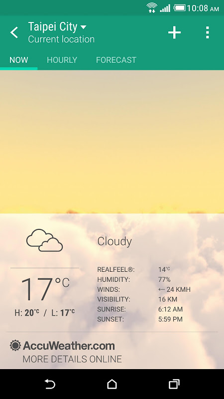 HTC Weather screenshot 1