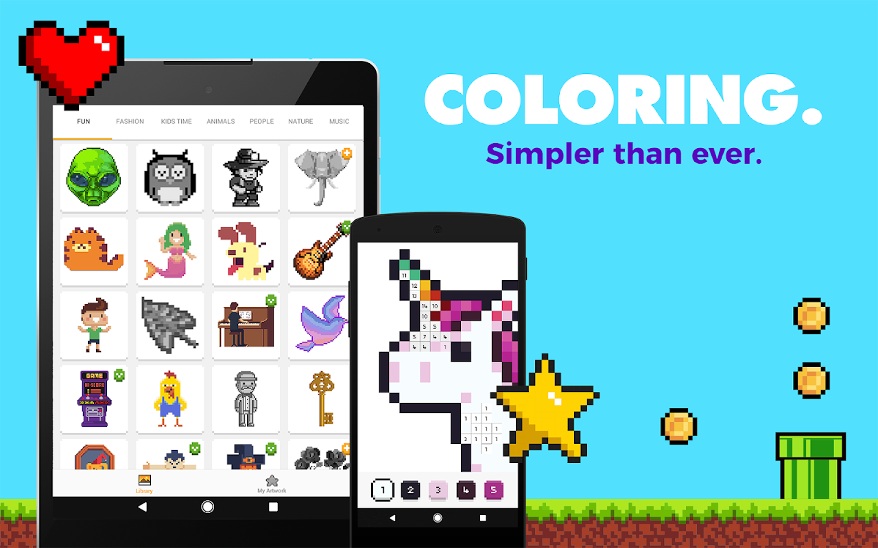UNICORN: Colour by Numbers Pixel Art Game screenshot 2