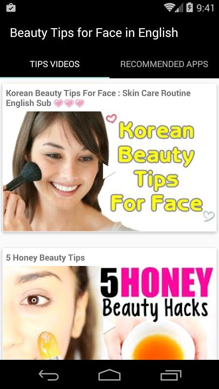 Beauty Tips for Face English screenshot 1
