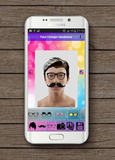 Face changer handsome screenshot