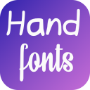 Hand Fonts for FlipFont with Font Resizer