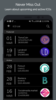 Tokens - Ethereum Portfolio Tracker & ICO News screenshot 4