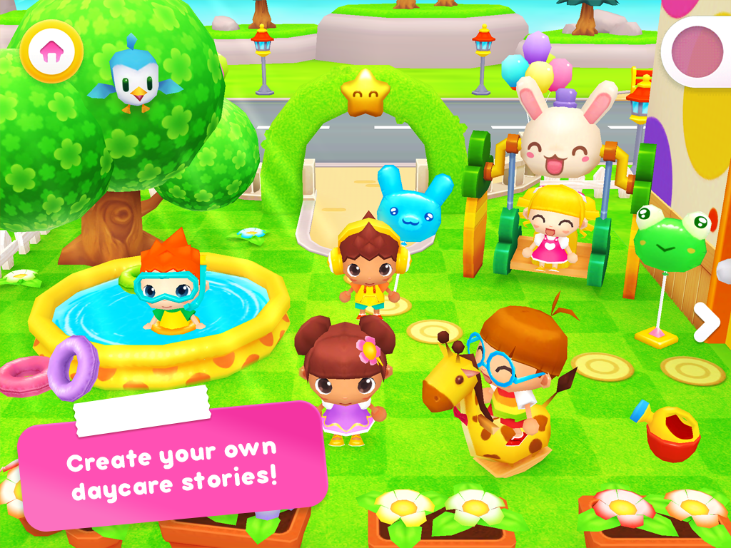 Happy Daycare Stories - School playhouse baby care screenshot 1
