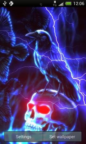Lightning Skull Live Wallpaper 27 Download Apk For Android