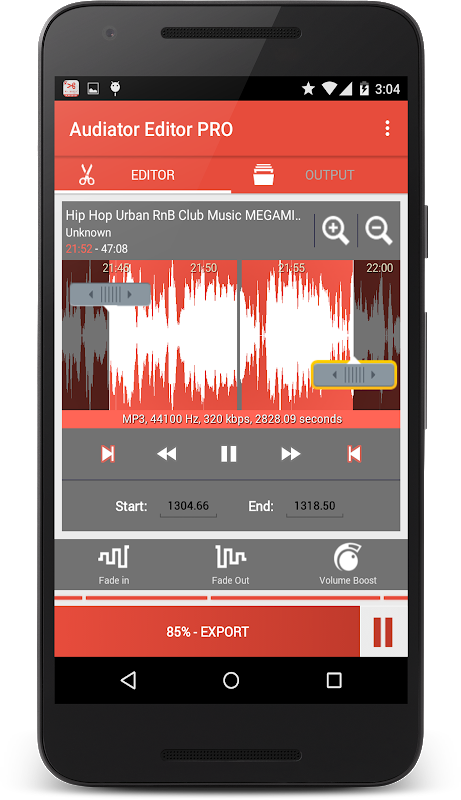 MP3Corte Criador Ringtone screenshot 1