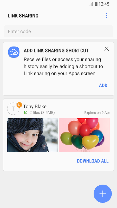 Link Sharing screenshot 2