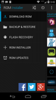 ROM Installer Screen