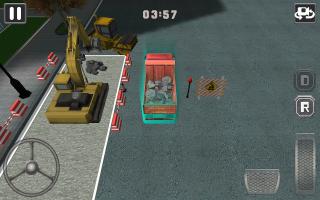 Construction Excavator 3D Sim Screen