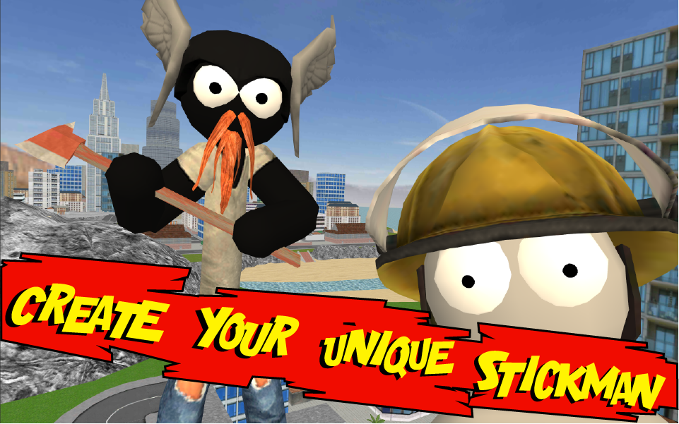 Stickman Rope Hero screenshot 2