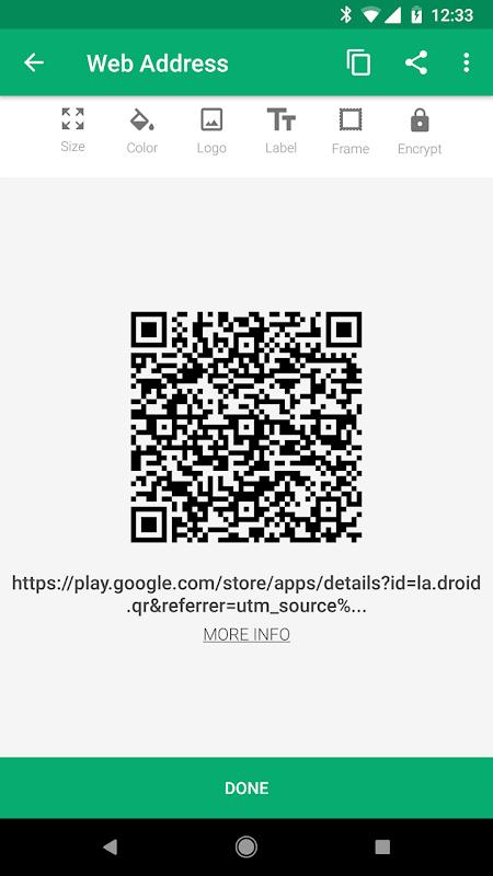 QR Droid screenshot 5