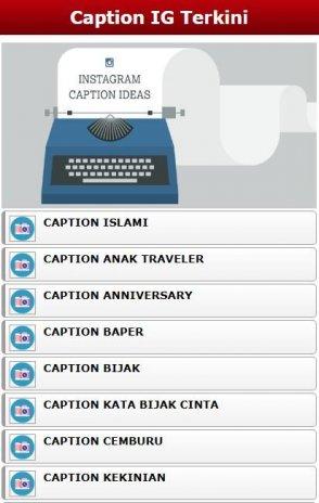 Caption Ig Keren Kekinian 10 Laden Sie Apk Für Android